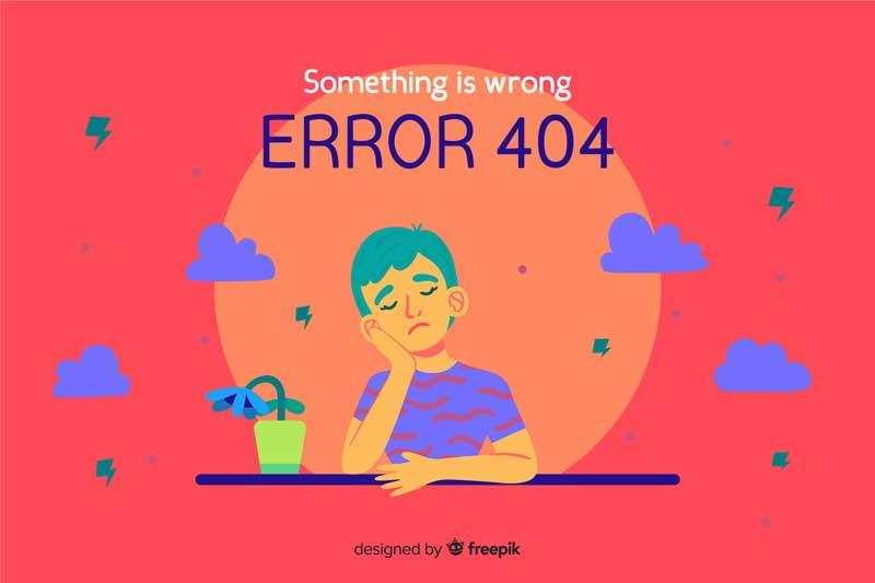404 error in web design