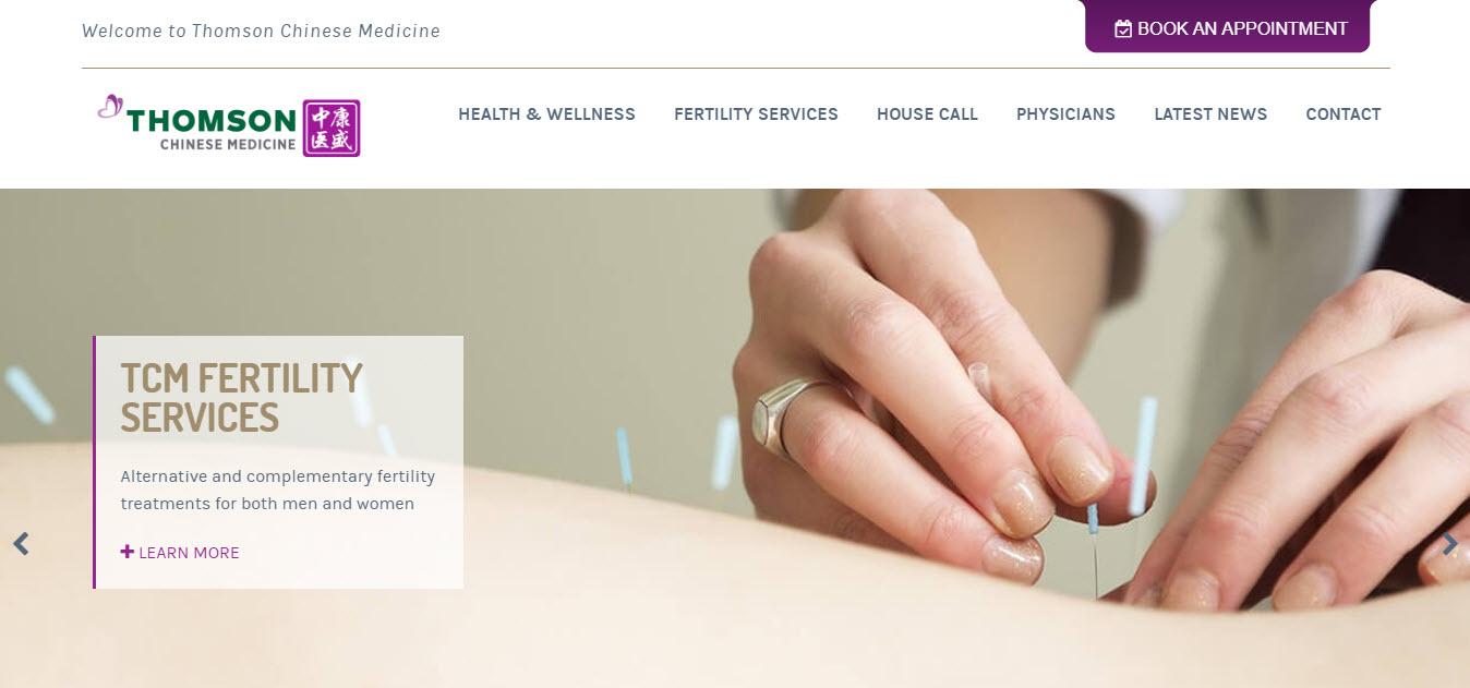 Website design with huge image background.